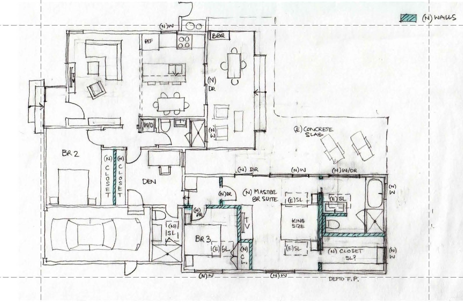 scheme 1 - Interior Design Sketches